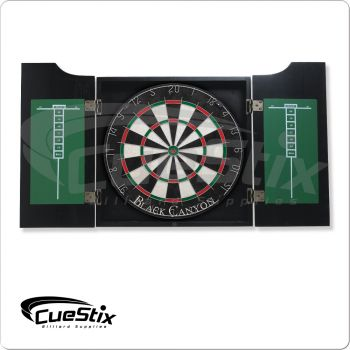 40-0800 Midnight Stained Dart Board Cabinet