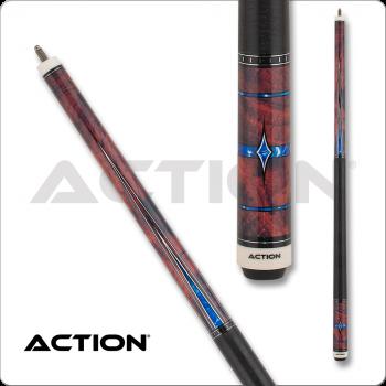 Action ACT155 Fractal - Burl w/ Blue Diamonds & Points