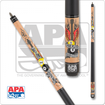 APA APA39 Flaming guitar with wings,  8 & 9 balls
