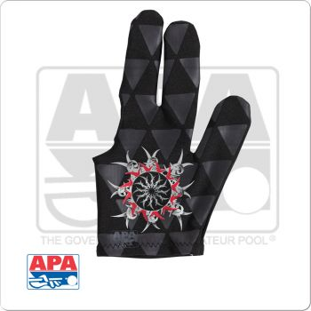 APA Tribal Burst BGLAPA03 Billiard Glove - Bridge Hand Left