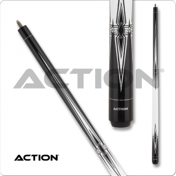 Action BW25 Black & White Pool Cue