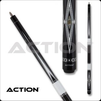 Action BW26 Black & White Pool Cue
