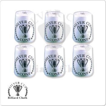 Silver Cup CHSCC6 Cone Chalk Box of 6
