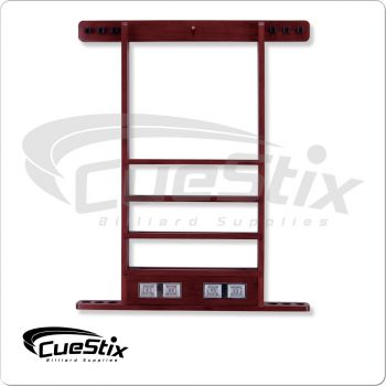 6 Cue WRSC Deluxe Wall Rack w/ Score Counter