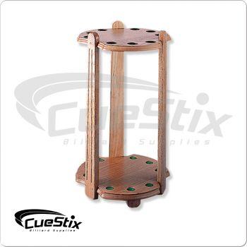 9 Cue FR9 Deluxe Oak Floor Rack