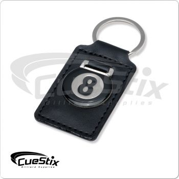 Leather 8-Ball Keychain