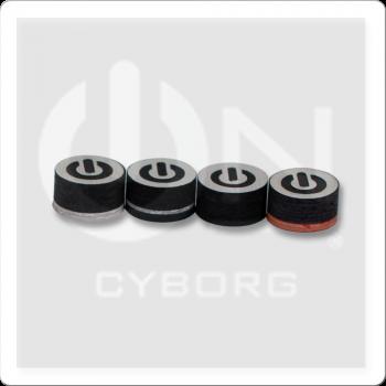 ON QTCYB Cyborg Black Pool Cue Tip - Single
