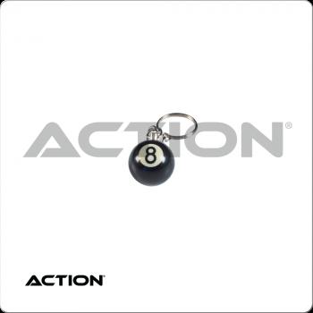 8 Ball NI8BK1 Key Chain Single