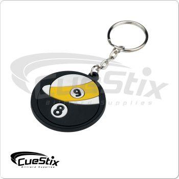 Rubber 8/9-Ball Key chain