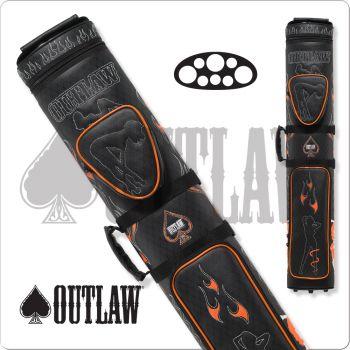 Outlaw OLB35D Stitch Flames 3x5 Hard Cue Case