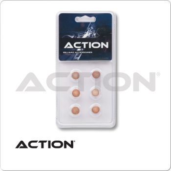 Action QT6GP Standard Pool Cue Tips - Blister Pack of 6