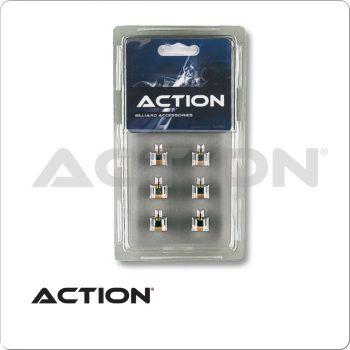 Action QT6SCT Screw On Tips - 12mm - Blister Pack of 6