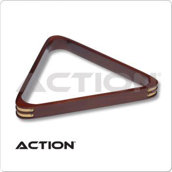 Wood RK8BStain Triangle Rack w/ Brass Corners
