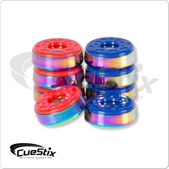 Shuffleboard SHBPRT Rainbow Titanium Pucks
