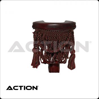 Burgundy Fringe TPPK10 Leather Pockets