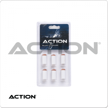 Action TR6SOR Brown Slip On Tips & Ferrules in Blister Pack of 6