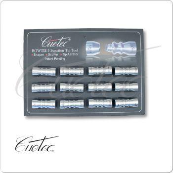 Cuetec TTBOW12 Bowtie Tip Tools - Card of 12