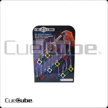Cue Cube TTCCCOL18 Colors Tip Tools Card of 18
