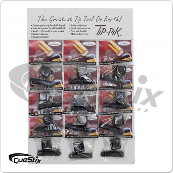 Tip Pik Shadow TTTPSHCH12 Tip Tools with Scuffers Card of 12